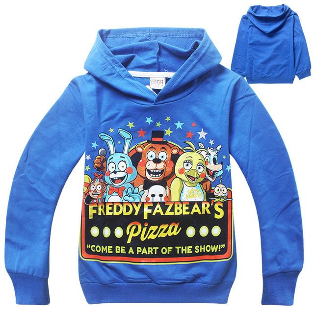 Meninos roupas crianças dos desenhos animados com mangas compridas t camisas cinco noites no freddy's clothing camiseta crianças t-shirt 5 freddys tops moletom com capuz