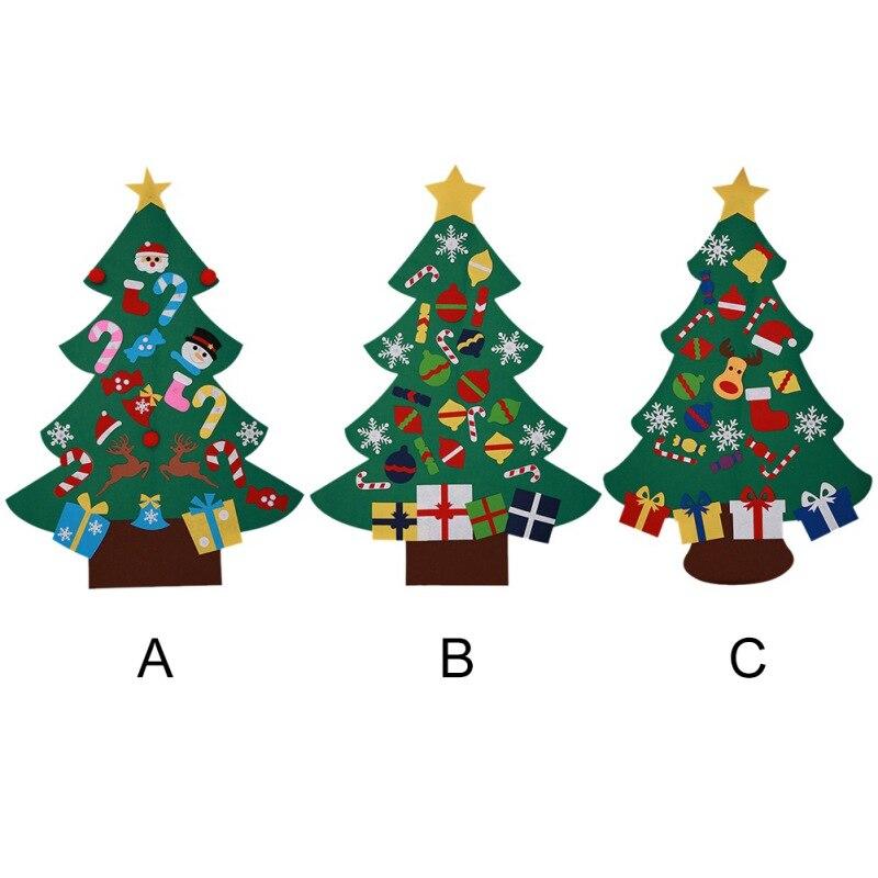 Kids DIY Felt Christmas Tree Ornaments for New Year ...