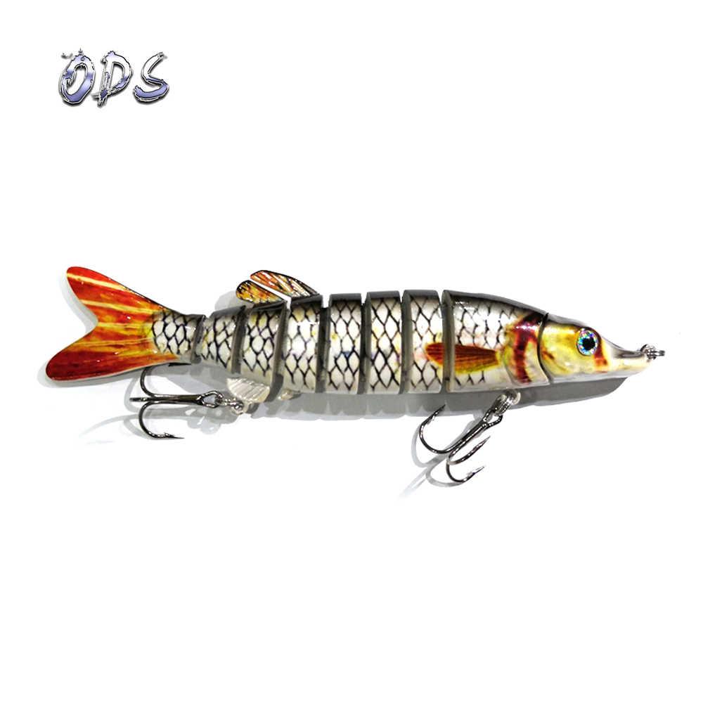 Ods señuelo 13 cm 17g 9-segement Swimbait Pike Wobblers Crankbait Isca artificial señuelo Mult articulado pesca cebo de pesca duro