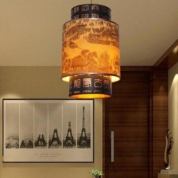 الصينية خشب متين قلادة صغيرة أضواء رئيس واحد الكلاسيكية مطعم الممر تقليد الغنم مصابيح متدلية الزهور