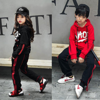 Kids Loose Cotton Ballroom Jazz Hip Hop Dance Competition Costume Shirt Tops Pants for Girls Boys Stage wear Outfit Dancing Wear