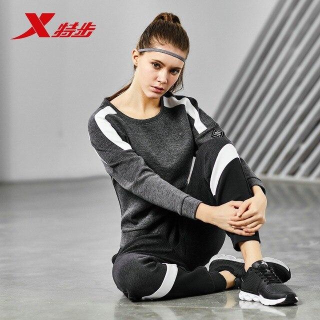883428059077 Xtep женский свитер Весна и осень спортивный пуловер свитер официальный Повседневный модный