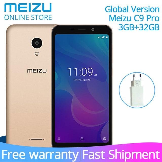 "Official Meizu C9 Pro 3GB RAM 32GB ROM Global Version Smartphone Quad Core 5.45"" HD Screen 13MP Rear 3000mAh Battery Face Unlock"