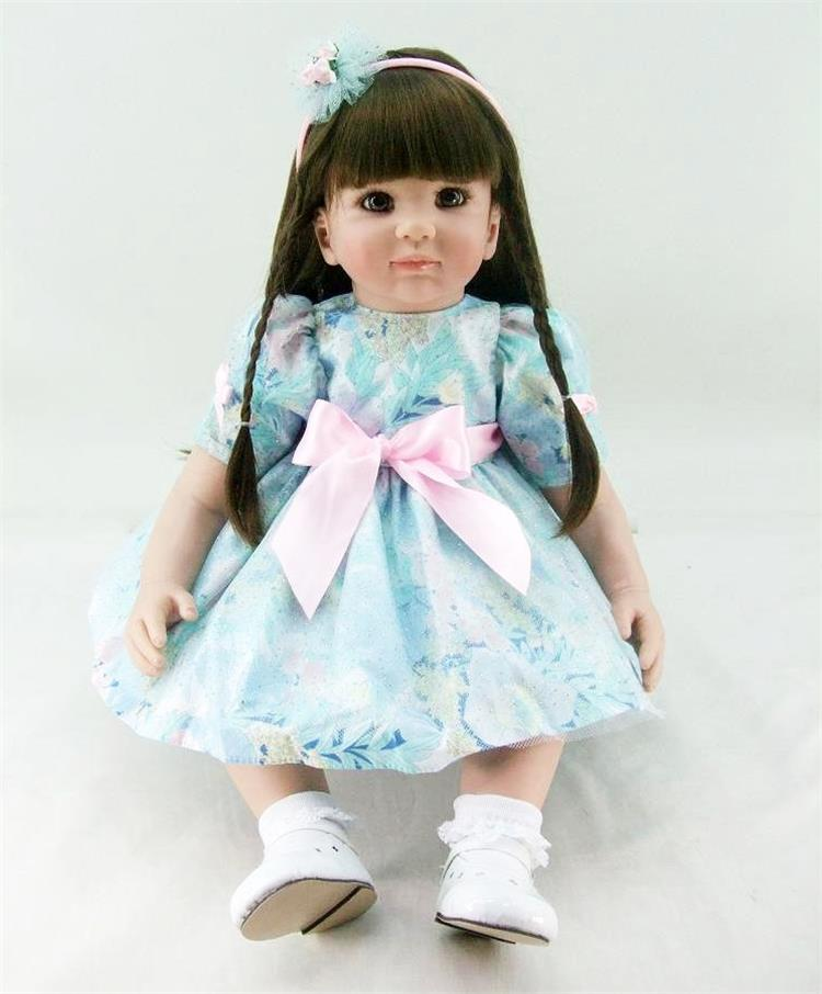 Pursue 24/60 cm New Handmade Soft Doll Lifelike Reborn Fake Baby Toddler Princess Dolls Toys for Girls Christmas Birthday Gift high end handmade chinese dolls ancient costume tang princess jin yang jointed doll articulated kids toys girls birthday gift