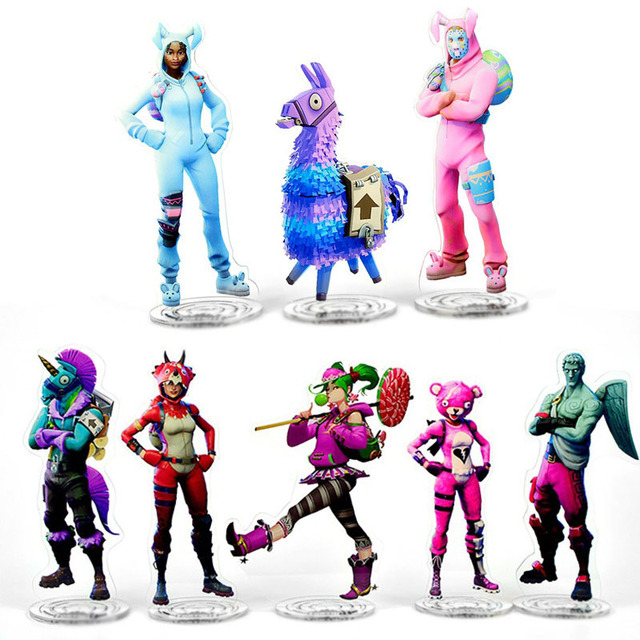 42 Styles Fortnight Action Figure Toy for Children Horse Raven dark voyager forti battle royale Figure Toys Collection Model