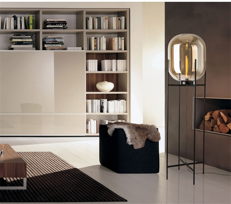 Nordic Glass Four Floor Lamp Living Room Bedroom Post