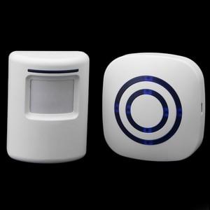 Image 5 - Kablosuz kızılötesi hareket sensörü kapı güvenlik Bell Alarm zil ab/abd Plug 3 AAA piller dahil değildir