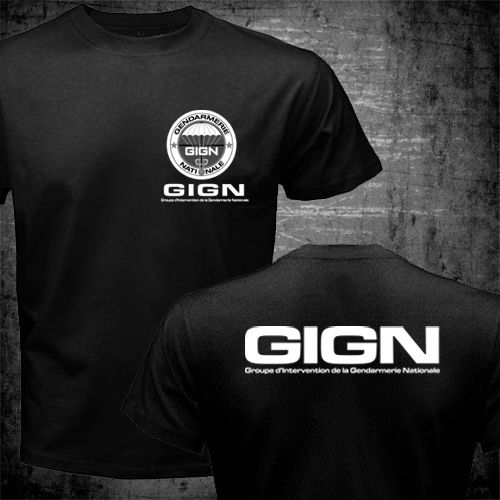France French Special Elite Police Forces Unit GIGN Raid BRI Black T shirt Short Sleeve Mens Tshirt Funny 2 Side O Neck Shirts
