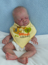 Rare limited edition SOLID SILICONE verson of Rio by Debbie authentic original reborn baby doll kit 3/4 limbs