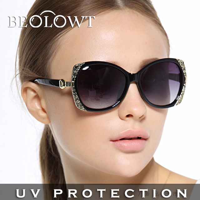 BEOLOWT Brand Fashion women's UV400  Sunglasses Driving Aluminum Magnesium Alloy Sun Glasses for women  with Case Box BL408