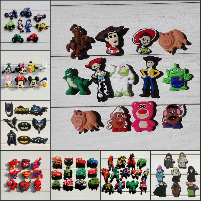 Furniture 80pcs Toy Story Cartoon Pvc Shoe Buckles Shoe Charms Fit Croc For Shoes&wristbands With Holes Furniture Accessories Kids Gifts