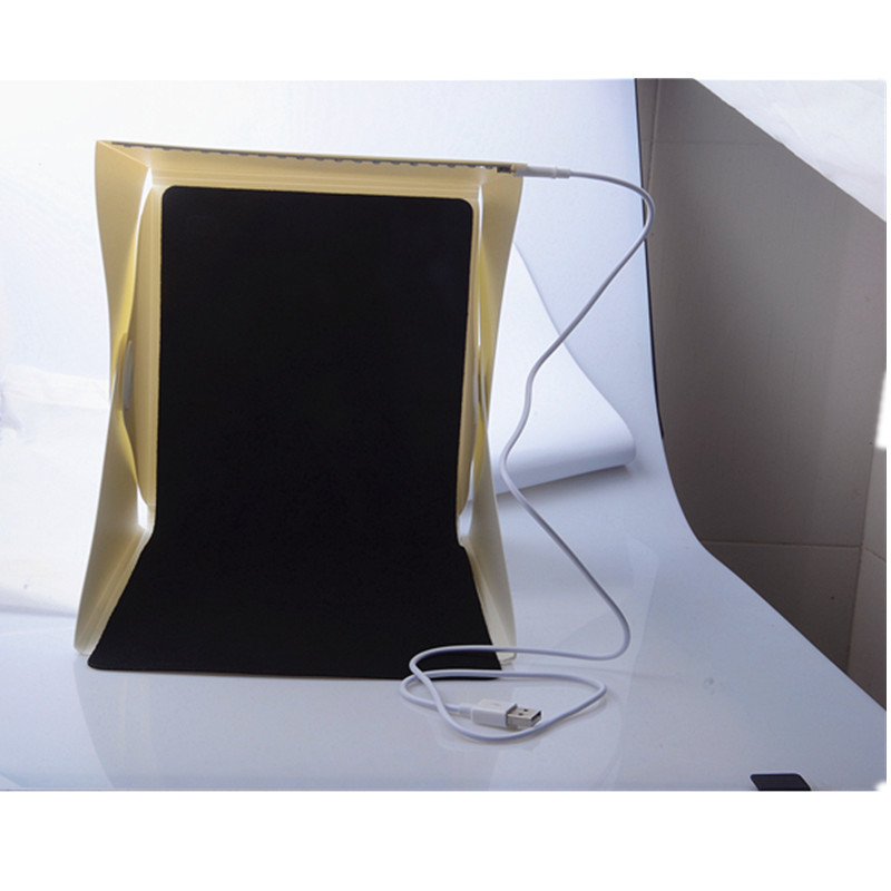 Photo Studio Accessories Original 20pcs/lot Photo Studio Accessories Mini Folding Studio Diffuse Soft Box With Led Light Black White Background Free Dhl Shipping Camera & Photo Accessories
