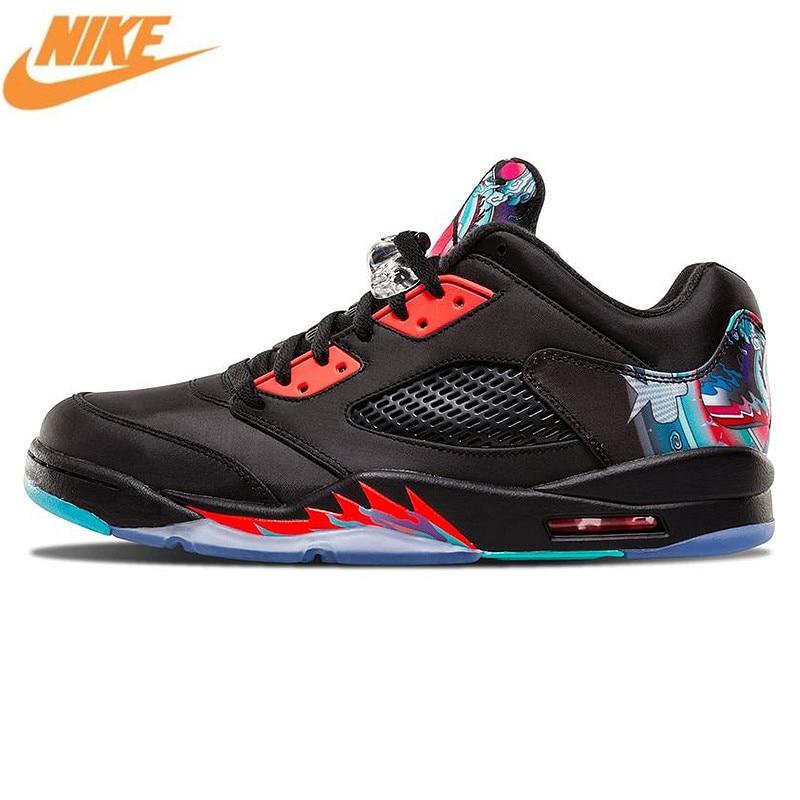 Nike Air Jordan 5 Retro Low CNY Chinese Kite Men Basketball Shoes Original Outdoor Comfortable Sports