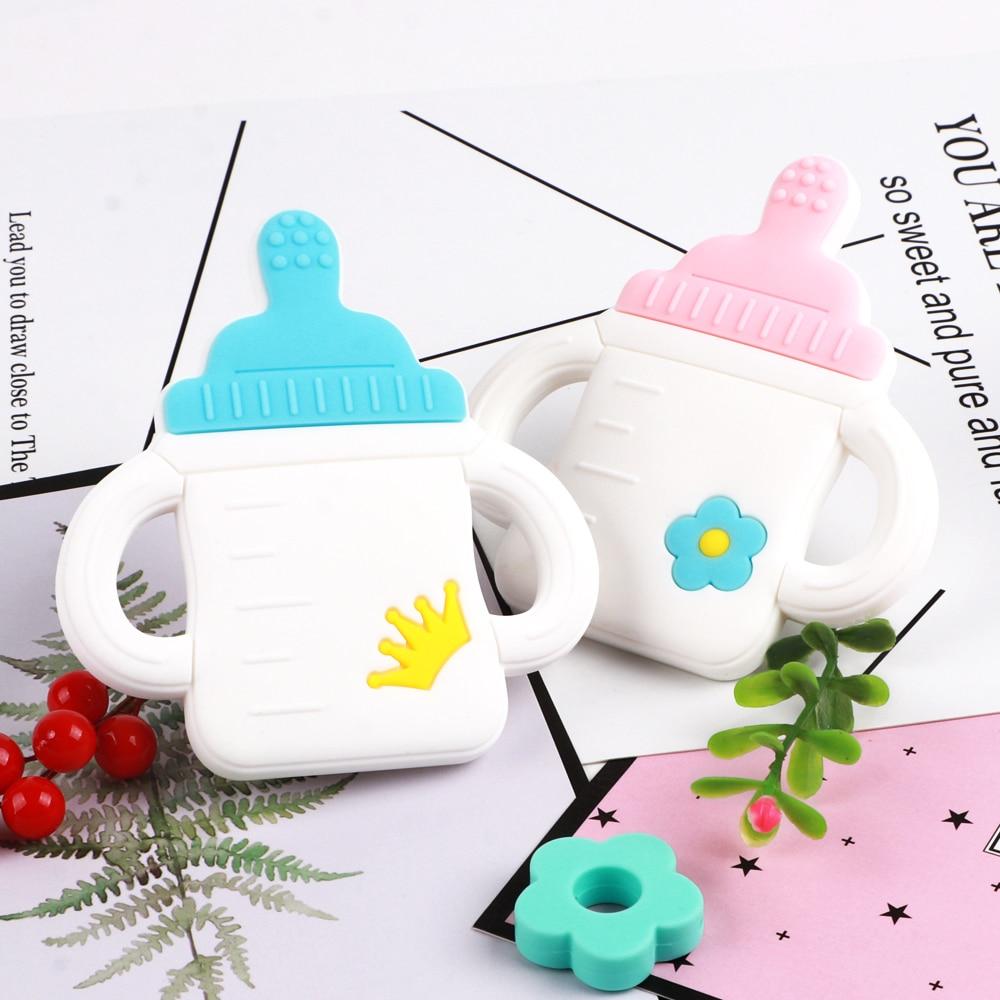 TYRY.HU 1PC Baby Teether Milk Bottle Cute  Accessories Nursing Teething Toys BPA Free Food Grade Silicone Teether Christmas Gift