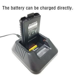 Image 3 - Зарядное устройство Baofeng, 100% оригинальные портативные аккумуляторы для рации UV 5R, настольное зарядное устройство для рации с вилкой европейского стандарта