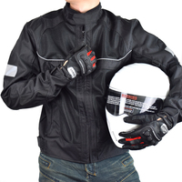 LYSCHY Summer Motorcycle Jacket Men Mesh Motocross Racing Reflective Safety Coat Motorbike Protective Gear Pads Riding MTB