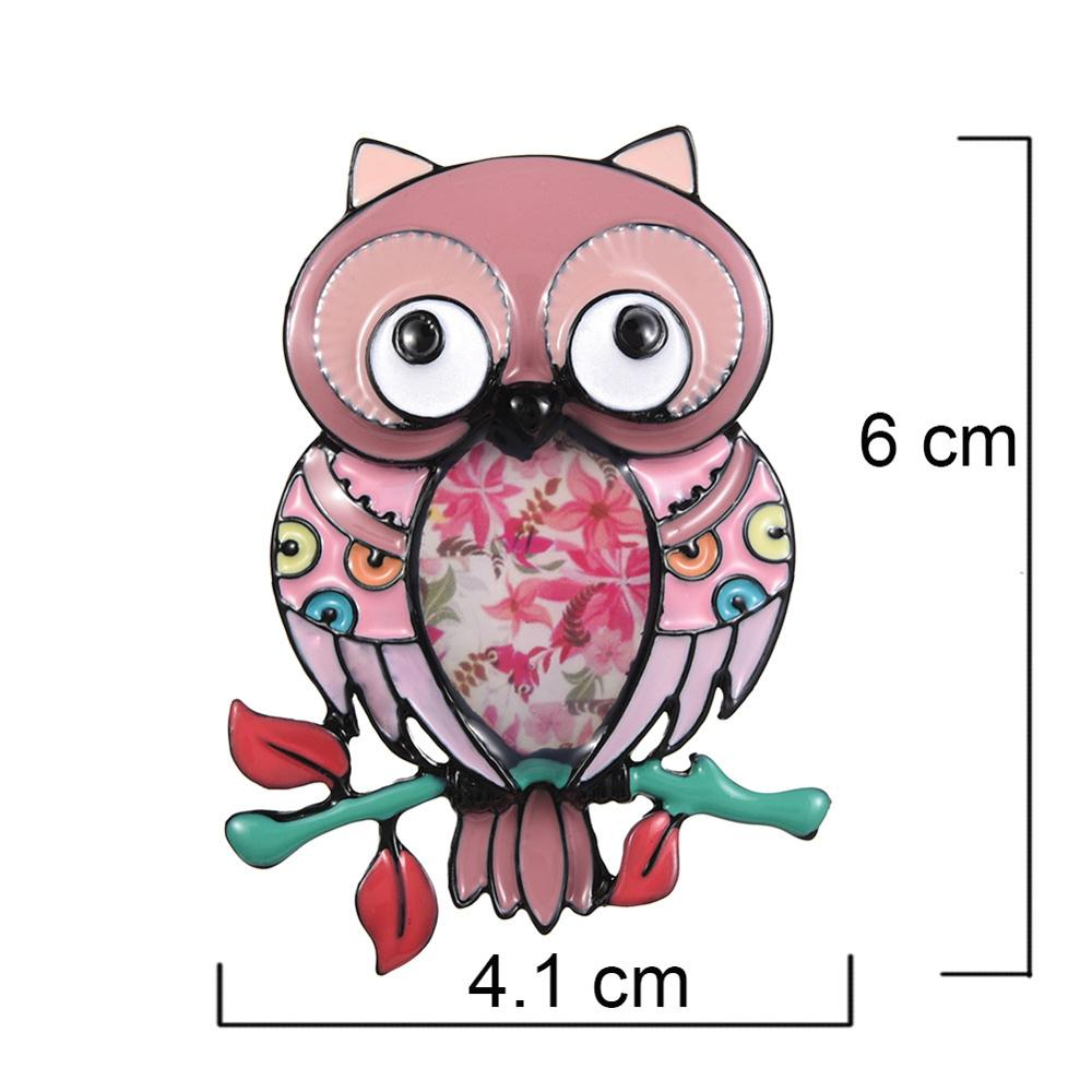 New Hot 2019 Enamel Pins Colorful Owl Brooch Cartoons Animal Brooches for Women Men Clothes Scarf Buckle Collar Jewelry Pins in Brooches from Jewelry Accessories