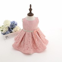 Newest Infant Baby Girl Birthday Party Dresses Baptism Christening Easter Gown Toddler Princess Lace Flower Dress