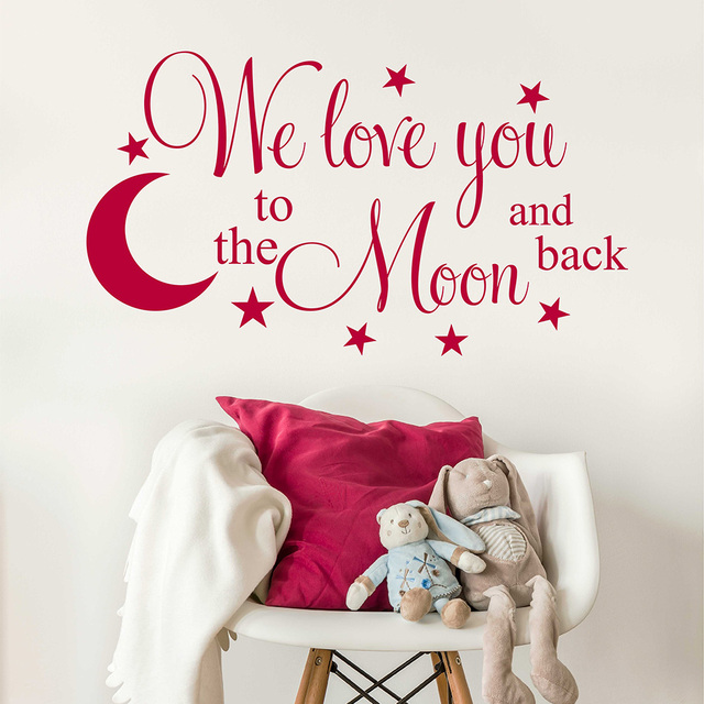Love You To The Moon And Back Wall Art aliexpress : buy we love you to the moon and back with hanging