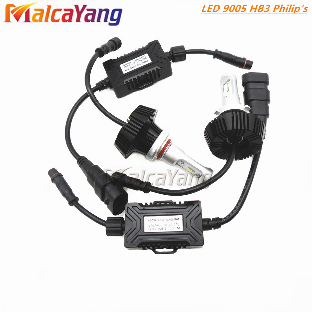 100% New H1 H3 H4 H7 H11 9005 9006 SMD CREE Chips 25W Car LED Headlight Bulbs 7000LM 6500K 12v 24v Led Auto Headlamp Headlights