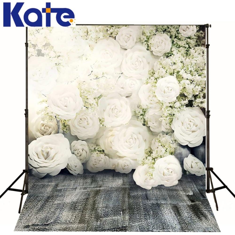 5x7Ft (150x220cm) Kate Backdrops Scenery White Flower Floor - Cámara y foto