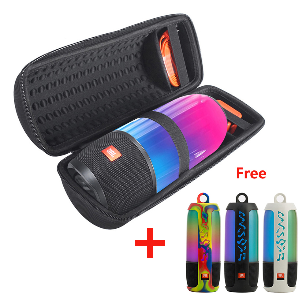 2 In 1 Hard EVA Carry Zipper Storage Box Bag+ Soft Silicone Case Cover For JBL Pulse 3 Bluetooth Speaker For JBL Pulse3 Column