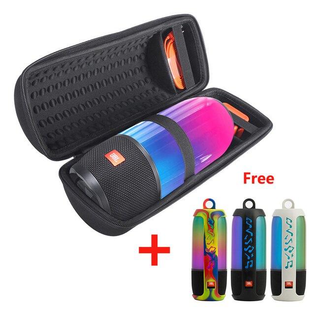 2 in 1 Hard EVA Tragen Zipper Lagerung Box Tasche + Weiche Silikon Fall Abdeckung Für JBL Pulse 3 Bluetooth lautsprecher Für JBL Pulse3 Spalte