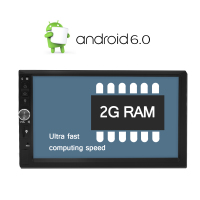 A Sure Android 6 0 Car DVD Universal 2 Din GPS Radio Quad Core 2G 16GB