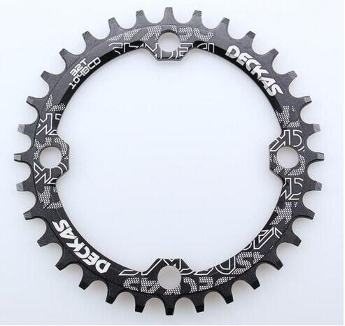 DECKAS 104 Bcd 32/34/36/38T Mountain Bicycle Crank Chainwheel Aluminum Bcd104 Chainring Hollow Repair Suitable 9 S 10 S 11s