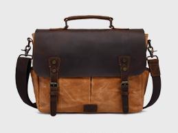 Vintage Crazy Horse Leather Man Bag Oil Wax Portable Canvas Bag, Men's Shoulder Bag pinepoxp bag