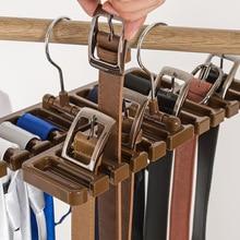 Многофункциональная пластиковая вешалка для ремня, вешалка для галстука, полка для хранения одежды, вешалка для пояса, шелковый шарф, вращающийся органайзер, вешалка для хранения