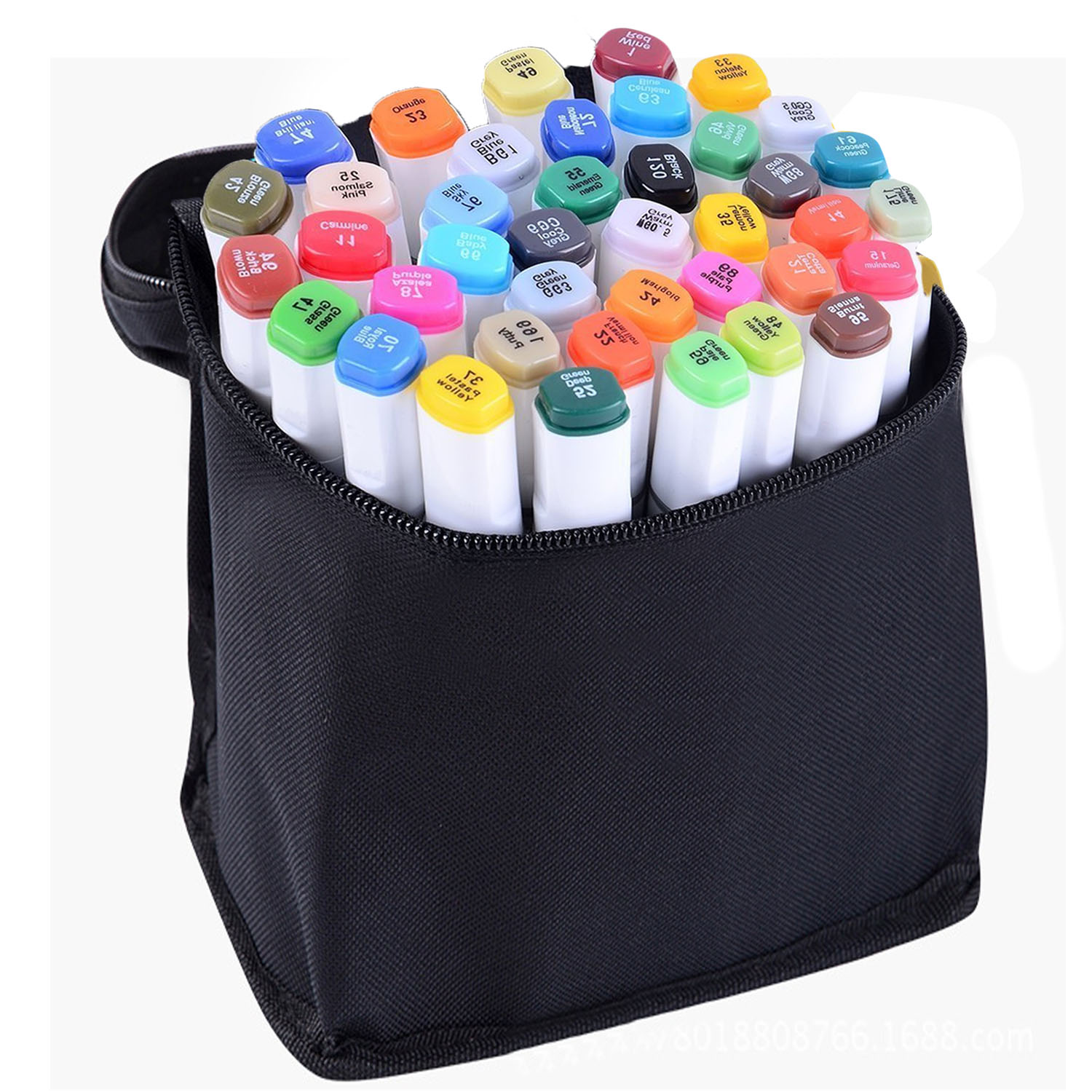 60 PCS Assorted Color Dual Tips Paint Art Sketch Twin Marker Pen Alcohol Based Ink for Art Crafting Poster Coloring Highlighting comby alcohol based twin art permanent marker pen color suit with free case