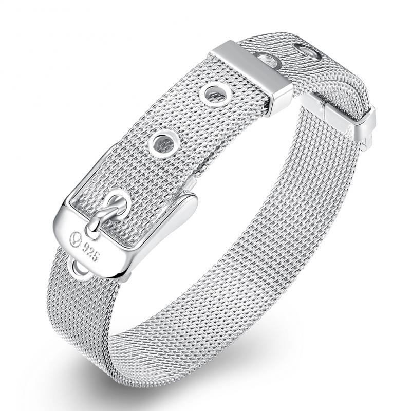 Adjustable Silver Plated Bracelet Fine Fashion Bracelet Quality Bracelet Gift Charm Bracelets Vintage Jewelry For Women