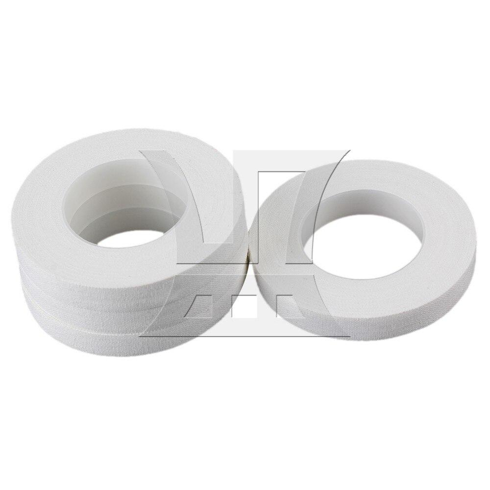 Yibuy 10 מטר/Roll לבן כותנה רכה דבק Guzheng פיפה אצבע מבחר Pack של 4