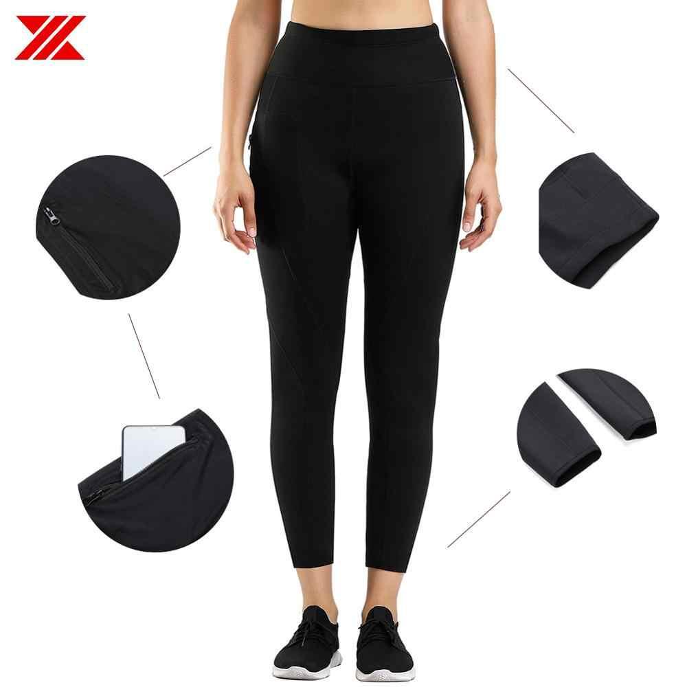 HEXIN для женщин похудение Горячая Неопреновая сауна пот брюки с боковым карманом тренировки бедра облегающие леггинсы шейпер жиросжигатель