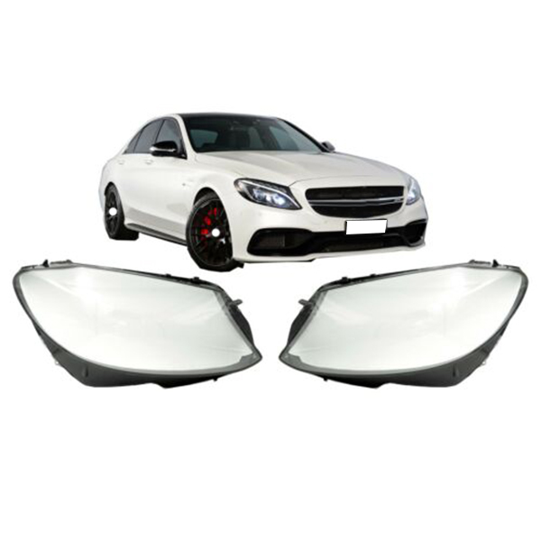 1Pair Car Clear Headlight head light lamp Lens Cover head light lamp Cover For <font><b>Mercedes</b></font> Benz W205 C180 C200 C260L C280 <font><b>C300</b></font> 20 image
