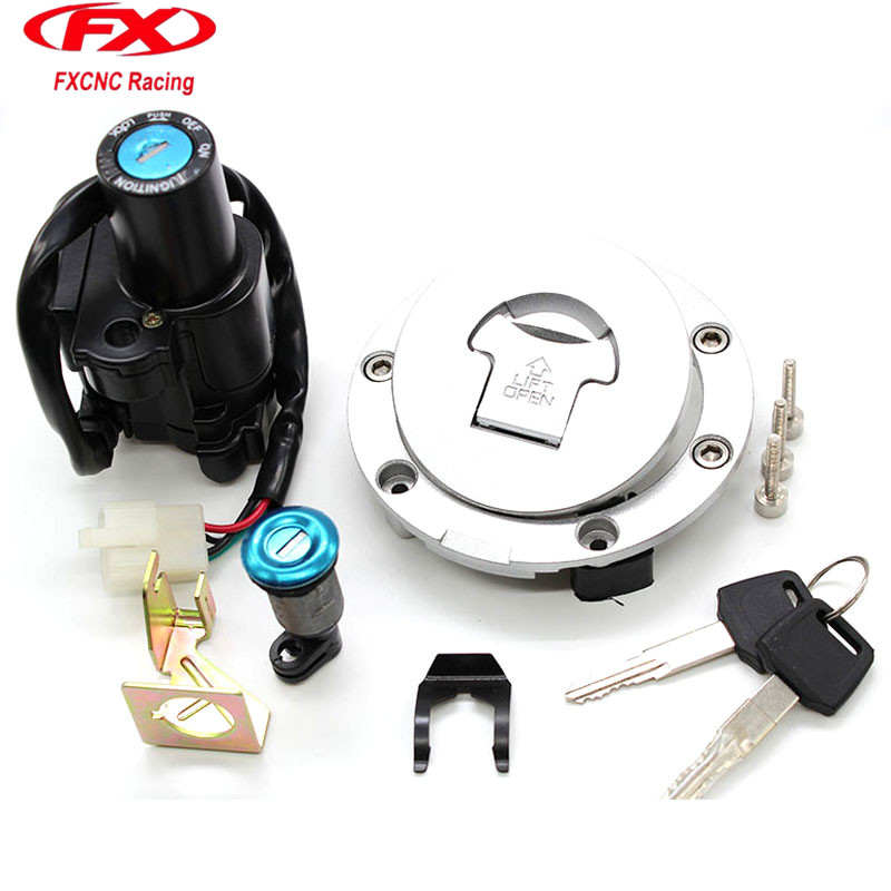 Motorcycle Ignition Switch Lock Gas Cap Lock Seat Lock With Keys For Honda CB400 VTEC 1999 - 2011 CBR600 03 - 06 CBR1000 04 - 07