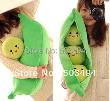 New Arrival 9'' High Quality Super Cute Little Peas Stuffed Plush Doll 3 peas in a pod pea Toy Free Shipping 2/LOT