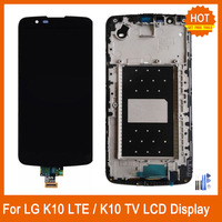 For LG K10 LTE K420N K430 K430DS K410 K10TV K430TV K10 TV 5.3 LCD Display Touch Screen Digitizer Replacement with Frame Repair