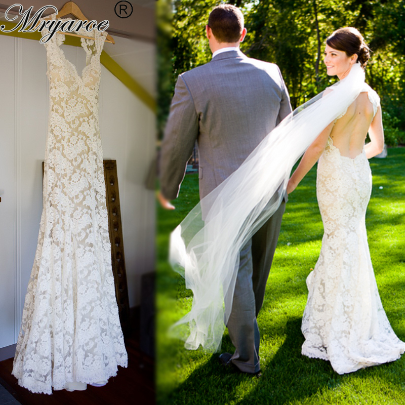 Online Buy Wholesale lace wedding dresses with keyhole back from