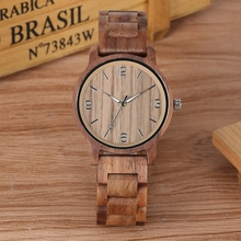 Handmade Walnut Wood Watch for Men Chic Luminous Pointer Quartz Wooden Wristwatch for Male Wood Strap Bracelet Watches Gift gift items handmade ebony sandalwood bracelet watch bewell wood watches made in china