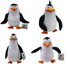 Lovely Madagascar Penguins Plush Toys Peluche Dolls Brinquedos Movie Cartoon Animal Dolls Gift for Baby Kids 4pcs/set 19-27cm