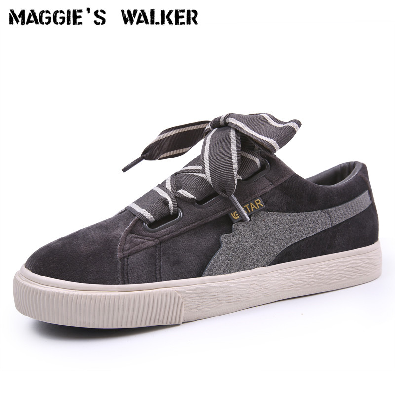 Maggie's Walker Women Casual Canvas Shoes Platform Fashion Suede Lacing Shoes Pink Spring Casual Shoes Size 35~40 free shipping women fashion genuine leather shoes spring pearl casual shoes lacing japanned leather shoes size 35 40