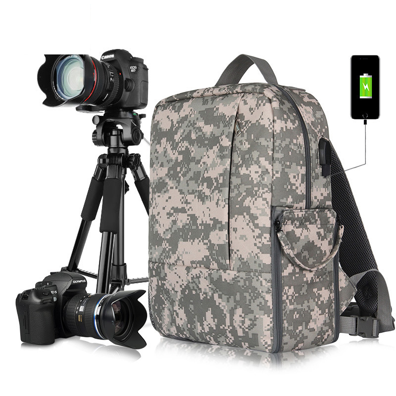 New Fashion Waterproof DSLR Photo Padded Backpack w/ Rain Cover for 15.6 Laptop Multi-functional Camera Soft Bag Video Case jkbw new arrival 44 x 30 x 19cm camare bags waterproof multi functional backpack soft video camera bag for photographer