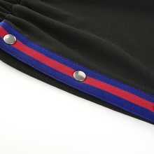 Weekeep Fashion Side Button Split Shorts Women's Summer Black Patchwork High Waist Shorts 2018 Streetwear feminino Shorts Bottom