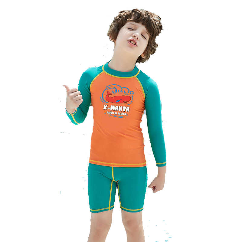 9c2b7407ef Dive&Sail kids boys swimsuit Swimming Suit 2 Piece set UV50+ sun protection  for 3-9Y