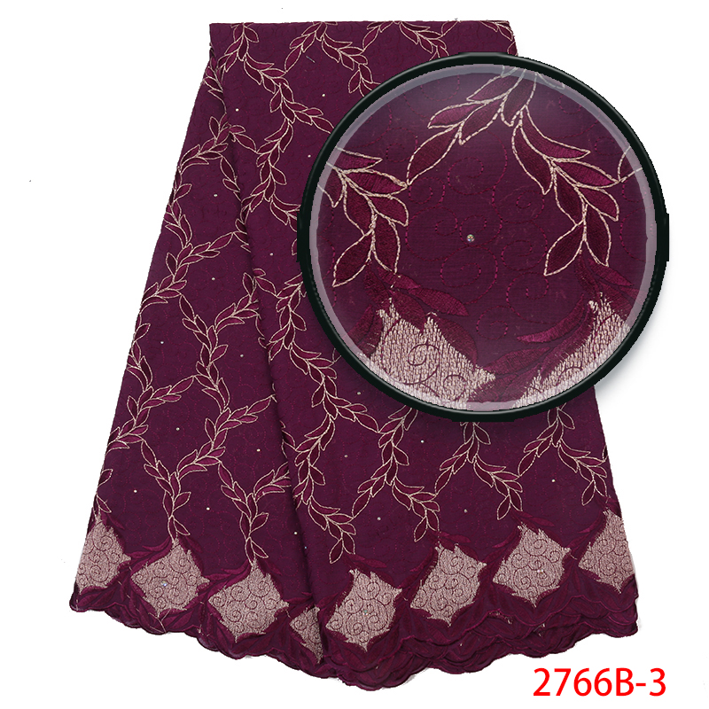 Swiss Voile Laces Best Selling, African Dry Cotton Lace Fabric High Quality,Swiss Voile Lace In Switzerland With Stone KS2766B-3
