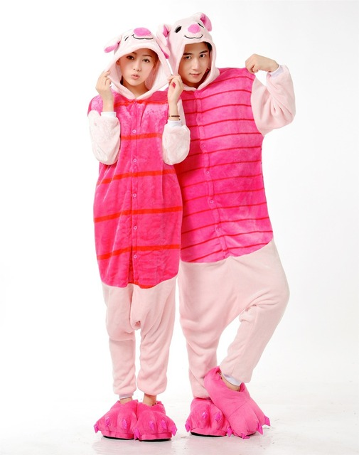 New Adult Onesie Unisex Pajamas Cosplay Japan Costumes Cute Animal Cartoon Piglet  Onesies Pyjamas Sleepwears Pink Pig 3a138ba42a20