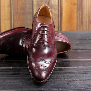 Roter Und Schwarzer Smoking | Sipriks Luxus Vintage Klassische Brogue Schuhe Boss Männer Wein Rot Schwarz Kleid Oxfords Frankreich Kalb Leder Flügelspitze Schuhe Nähen 46