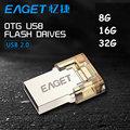 Eaget V8 Original, USB 2.0 Flash Drive de 8 GB 16G 32G Micro OTG Memory Stick Pen Drive para Smart Phone Tablet PC Ordenador Pendrive